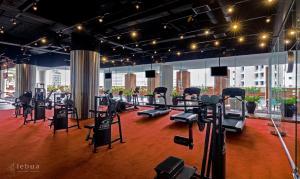 Das Fitnesscenter und/oder die Fitnesseinrichtungen in der Unterkunft lebua at State Tower (The World's First Vertical Destination)