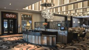 The lobby or reception area at Radstone Hotel
