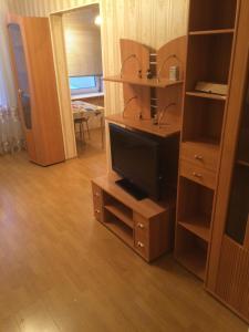 Телевизор и/или развлекательный центр в Apartment on Karla Marksa 7