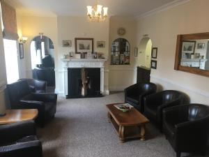 The lobby or reception area at Abbots Mead Hotel