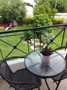 A balcony or terrace at Kos Island Studios