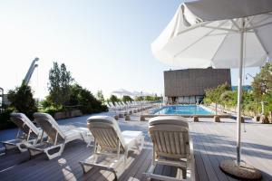 The swimming pool at or near Hotel Palafox