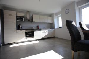 A kitchen or kitchenette at Castelferien Dak appartement