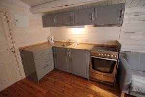 Kjøkken eller kjøkkenkrok på Trollstigen Resort