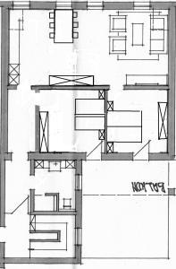 The floor plan of Castelferien Dak appartement