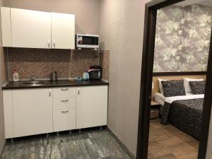 Кухня или мини-кухня в Апарт-Отель «Близнецы»