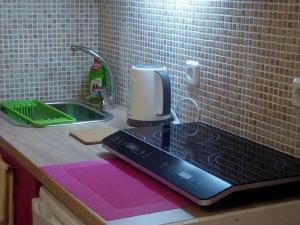 O bucătărie sau chicinetă la Comfortable inexpensive apartmets near metro