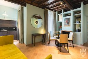 Coin salon dans l'établissement Residenza Spada