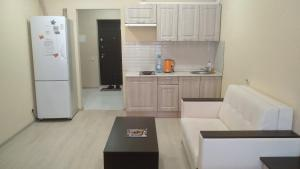 Кухня или мини-кухня в Apartments at 3rd Vostochniy Proezd