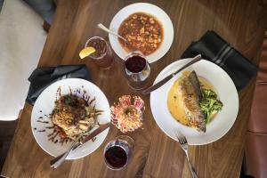Lunch and/or dinner options for guests at Colcord Hotel