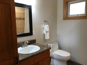 A bathroom at Hoh Valley Cabins