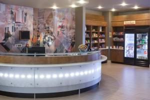 The lobby or reception area at SpringHill Suites by Marriott Salt Lake City Airport