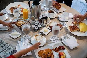 Breakfast options available to guests at Fairmont Olympic Hotel