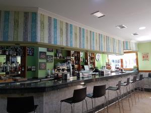 The lounge or bar area at Pension Amarantos