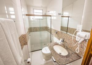 Um banheiro em Cafezal Palace Hotel