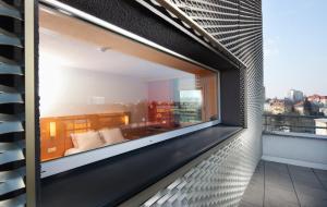 A balcony or terrace at Comfort Hotel Olomouc Centre