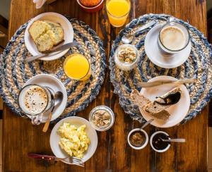 Opciones de desayuno para los huéspedes de Lago Viedma B&B