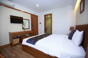 Кровать или кровати в номере Soho Hotel
