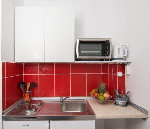 Kuchnia lub aneks kuchenny w obiekcie Anna Anton Apartment