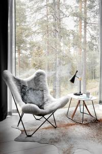 A seating area at Arctic TreeHouse Hotel