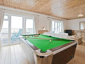 A billiards table at Gone Cockling