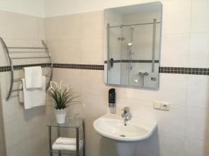 Ein Badezimmer in der Unterkunft Landgasthof & Hotel Jossatal