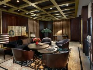 The lounge or bar area at King David Hotel Jerusalem