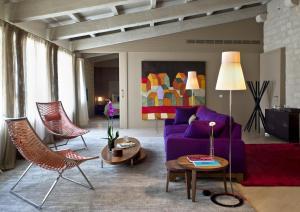 Zona d'estar a Mercer Hotel Barcelona
