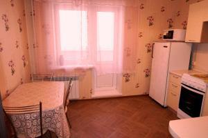 Кухня или мини-кухня в Apartment on Vladimira Nevskogo 38g