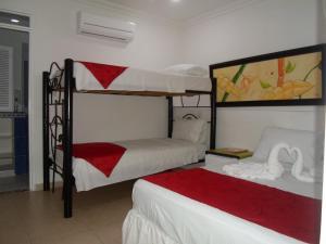 Litera o literas de una habitación en Hotel Zamba