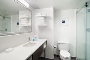 A bathroom at Hampton Inn Philadelphia Center City-Convention Center