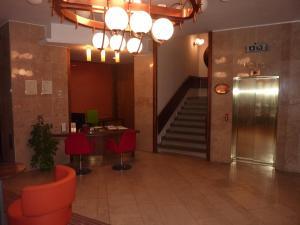 The lobby or reception area at Grandhotel Garni
