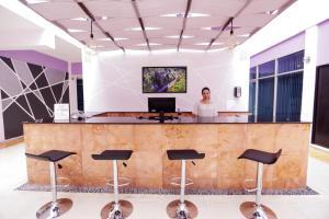 The lobby or reception area at Hotel Kavia