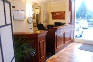 The lobby or reception area at Brecon Hotel Rotherham Sheffield