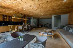 The lounge or bar area at Ad Lib
