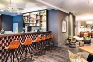The lounge or bar area at Leonardo Boutique Hotel Düsseldorf