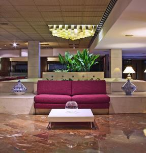 El vestíbulo o zona de recepción de Hotel Goya