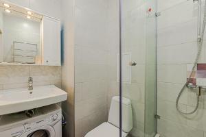Ванная комната в Kremenchugskaya 17k2