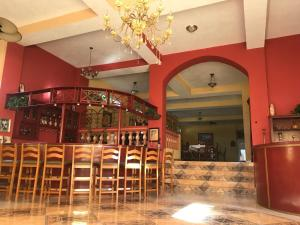 The lounge or bar area at Zion CassaRoyale Hotel