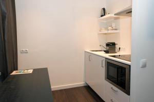 Een keuken of kitchenette bij Brainport Hotel and Apartments