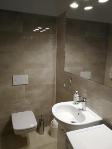 A bathroom at Domek przy lesie