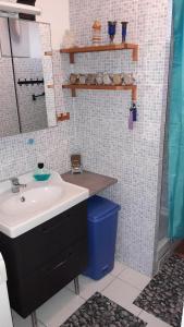 A bathroom at Chambre d'hôte Zen ou Appartement Marseille