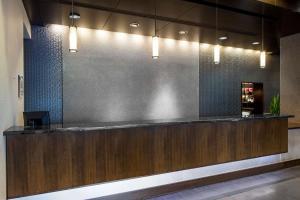 The lobby or reception area at Hyatt House Charlotte Center City