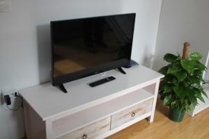 Una televisión o centro de entretenimiento en Apartamentos San Lázaro