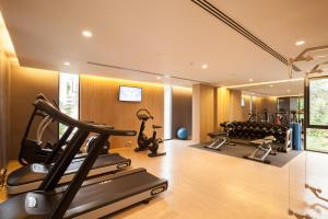 The fitness center and/or fitness facilities at Ad Lib