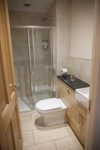 A bathroom at Apartment E