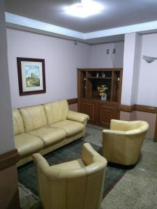 A seating area at Hotel Macabu