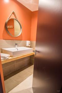 Salle de bains dans l'établissement Archipel Volcans