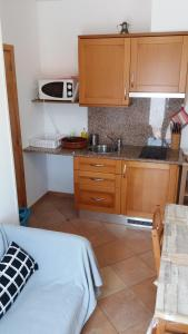 A kitchen or kitchenette at Apartments Sound of Silence