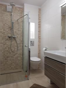 A bathroom at Sopot Apartament